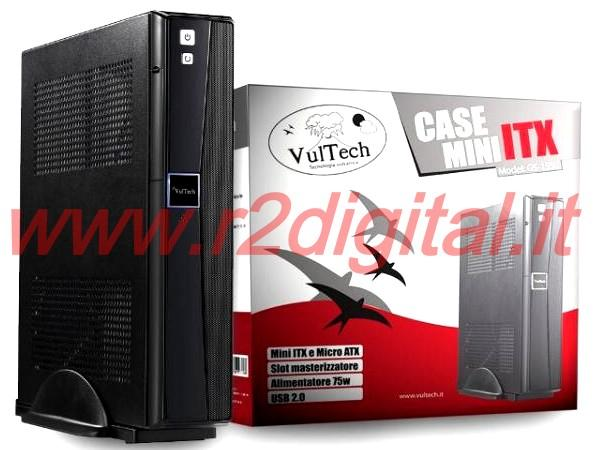 CASE VULTECH MINI ITX ALIMENTATORE ELETTRONICO USB TOWER ATX