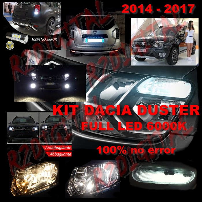 KIT FULL LED per DACIA DUSTER 2014-2017