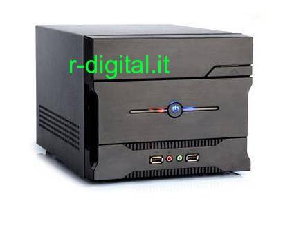CASE ITEK MINI ITX NCUBE 11 ALIMENTATORE 200W NERO CARD READER