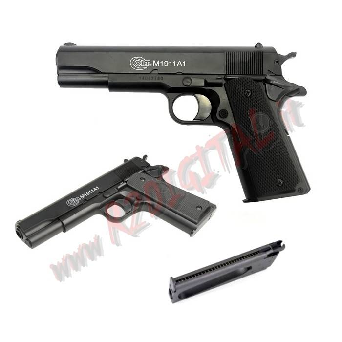 PISTOLA MOLLA RINFORZATA COLT 1911 CYBERGUN 6mm SOFTAIR