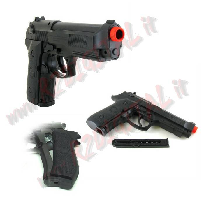 PISTOLA CO2 BERETTA 92 FS WIN GUN C302B 6mm SOFTAIR
