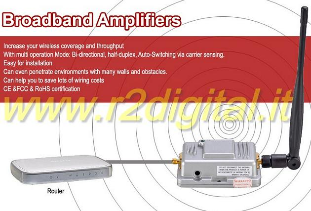 AMPLIFICATORE PER ANTENNA ROUTER 2W SMA ACCESS POINT WIFI 2,4g