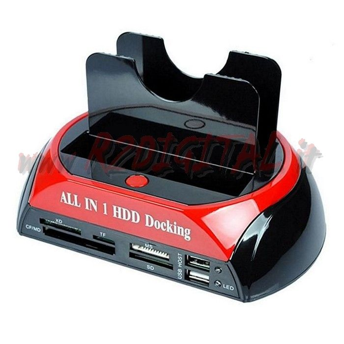 DOCKING STATION SATA IDE HARD DISK BOX USB 2.0/3.0 CARD READER