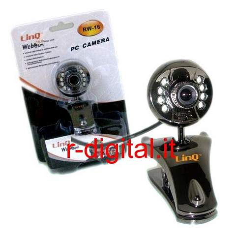 WEBCAM 20 MEGA PIXEL MICROFONO WEB CAM 8 LED USB CAMERA PINZA